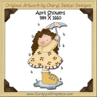 April Showers Single Graphics Clip Art Download