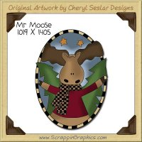 Mr Moose Single Clip Art Graphic Download