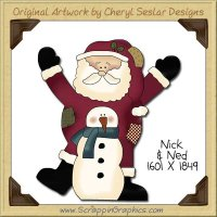 Nick & Ned Single Clip Art Graphic Download