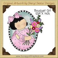 Bouquet Girl Single Clip Art Graphic Download