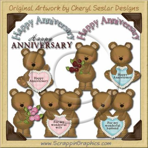 Anniversary Bears Collection Graphics Clip Art Download