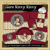 Here Kitty Kitty Gift Pack Collection Graphics Clip Art Download