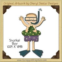 Snorkel Boy Single Clip Art Graphic Download