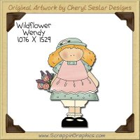 Wildflower Wendy Single Clip Art Graphic Download
