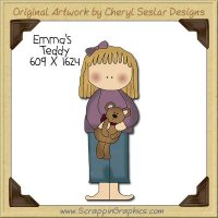 Emma's Teddy Single Clip Art Graphic Download
