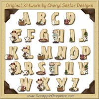 Cookie Time Alphabet & Numbers Clip Art Download
