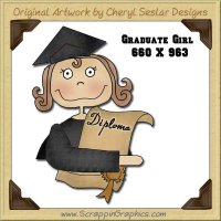Graduate Girl Single Graphics Clip Art Download