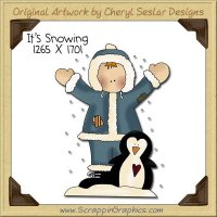 It's Snowing Single Clip Art Graphic Download