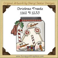Christmas Treats Single Graphics Clip Art Download