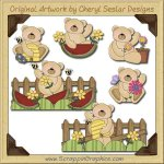 Summer Time Bears Collection Graphics Clip Art Download
