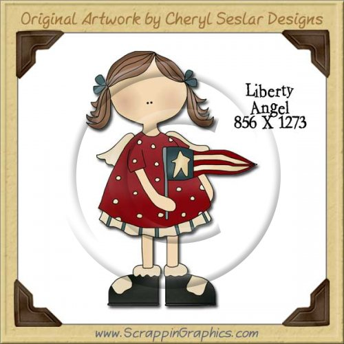 Liberty Angel Single Graphics Clip Art Download