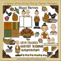 Harvest Blessings Collection Clip Art Download