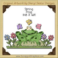 Spring Frog Single Clip Art Graphic Download