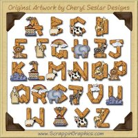 Noah's Ark Alphabet & Numbers Clip Art Download