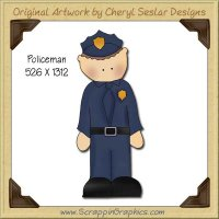 Policeman Single Graphics Clip Art Download