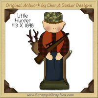 Little Hunter Single Clip Art Graphic Download