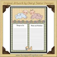Little Baby To Do Sheet Printable Craft Graphic Download