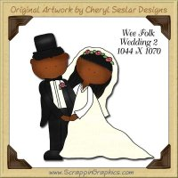 Wee Folk Wedding 2 Single Graphics Clip Art Download