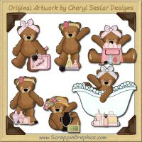 Ramona Bear So Girly Graphics Clip Art Download