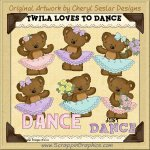 Twila Loves To Dance Limited Pro Clip Art Graphics