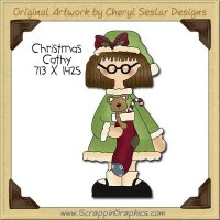 Christmas Cathy Single Clip Art Graphic Download
