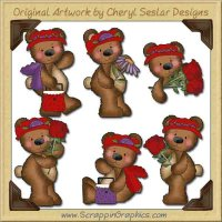 Raggedy Bears Red Hatters Graphics Clip Art Download