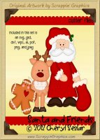 Santa & Friends Cutter Cutting Files Collection