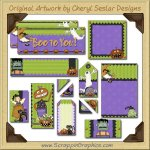 Cute N Scary Journaling Delights Digital Scrapbooking Graphics Clip Art Download