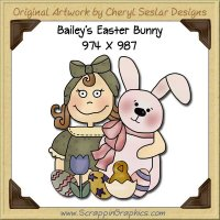 Bailey's Easter Bunny Single Graphics Clip Art Download
