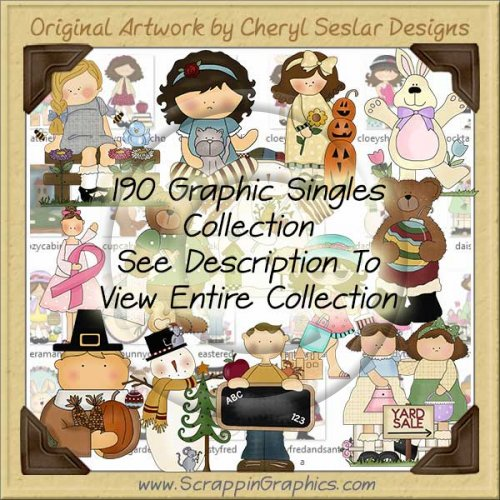 Giant Singles Clip Art Graphic Collection Volume 4 Download