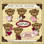 Beary Special Valentine Limited Pro Clip Art Graphics