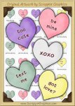 Candy Hearts Sediment Clip Art Graphics