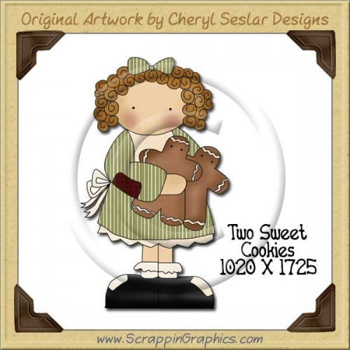 Two Sweet Cookies Single Graphics Clip Art Download