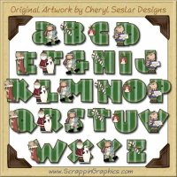 It's Christmas Alphabet & Numbers Clip Art Download