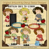 Bertilda Goes To School Limited Pro Clip Art Graphics