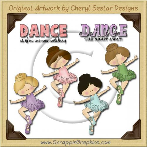 Dancing Girls Graphics Clip Art Download