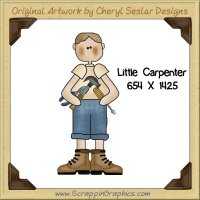 Little Carpenter Single Graphics Clip Art Download