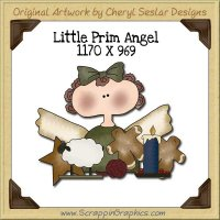 Little Prim Angel Single Graphics Clip Art Download