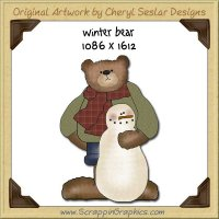 Winter Bear Single Graphics Clip Art Download
