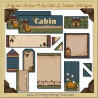 Cabin Journaling Delights Digital Scrapbooking Graphics Clip Art Download