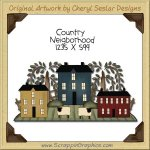 Country Neighborhood Single Clip Art Graphic Download