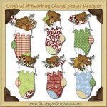 Tibble's Christmas Stockings Clip Art Download