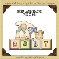 Baby Lamb Blocks Single Graphics Clip Art Download