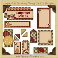 Picnic Time Journaling Delights Digital Scrapbooking Graphics Clip Art Download