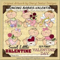 Bouncing Babies Valentines Limited Pro Clip Art Graphics