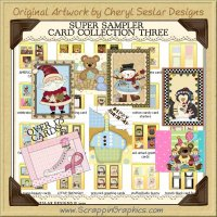 Super Card Sampler Collection Three Printable Craft Download