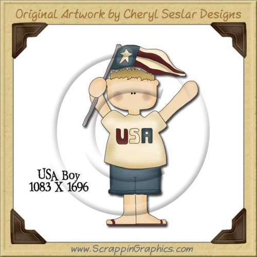 USA Boy Single Graphics Clip Art Download