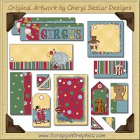Circus Journaling Delights Digital Scrapbooking Graphics Clip Art Download
