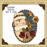 Gobbler Gertie Single Clip Art Graphic Download