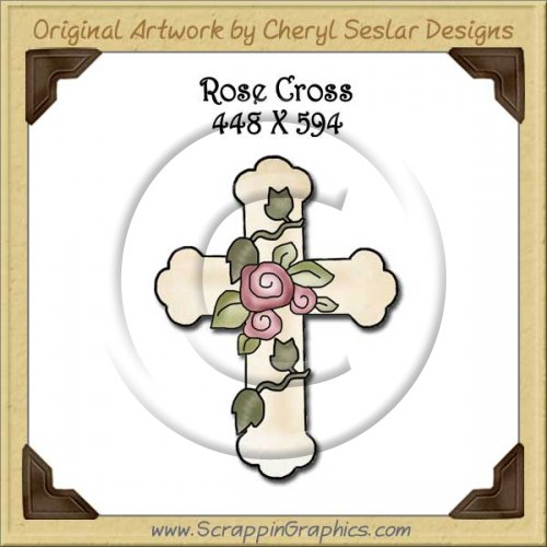 Rose Cross Single Graphics Clip Art Download